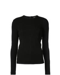 Blusa de manga larga negra de Proenza Schouler