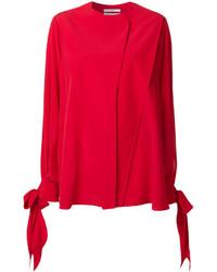 Blusa de Manga Larga Roja de Givenchy