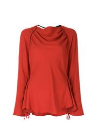 Blusa de manga larga roja de Marni