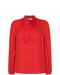 Blusa de manga larga roja de Tory Burch