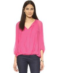 Blusa de manga larga rosa de Diane von Furstenberg
