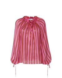 Blusa de manga larga rosa de MSGM
