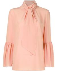 Blusa de manga larga rosada de Fendi