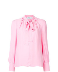 Blusa de manga larga rosada de MSGM