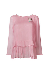 Blusa de manga larga rosada de Twin-Set
