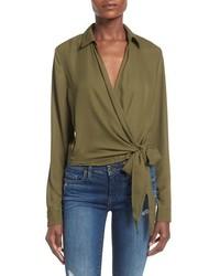 Blusa de manga larga verde oliva de Missguided
