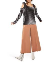 Blusa de rayas horizontales negra de Topshop