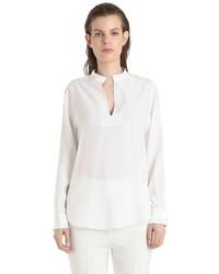 Blusa de Satén Blanca de René Storck
