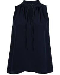 Blusa de Seda Azul Marino de Derek Lam