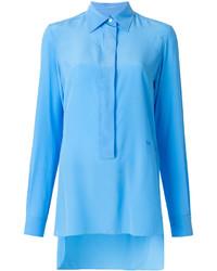 Blusa de seda celeste de Victoria Beckham