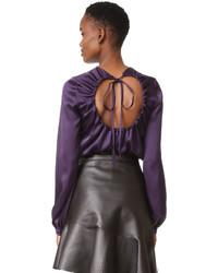 Blusa de seda en violeta de Rochas