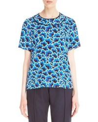 Blusa de seda estampada azul de Kenzo