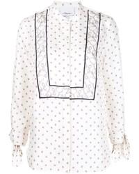 Blusa de seda estampada blanca de 3.1 Phillip Lim