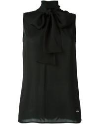 Blusa de Seda Negra de Dsquared2