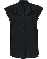 Blusa de seda negra de Givenchy