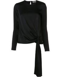 Blusa de Seda Negra de Lanvin