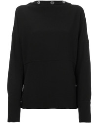 Blusa de seda negra de Victoria Beckham