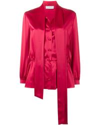 Blusa de seda roja de Balenciaga