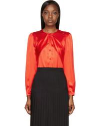 Blusa de seda roja de Givenchy