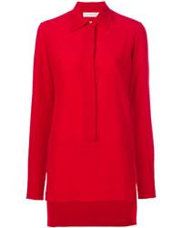 Blusa de seda roja de Victoria Beckham