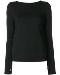 Blusa negra de MCQ