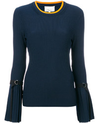 Blusa plisada azul marino de 3.1 Phillip Lim