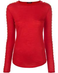 Blusa roja de Balmain