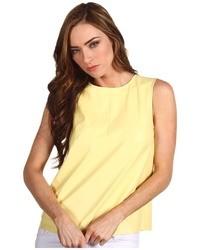 Blusa sin mangas amarilla