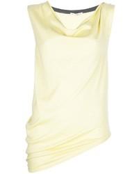 Blusa sin mangas amarilla de Balenciaga