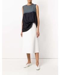 Blusa sin mangas azul marino de Y's
