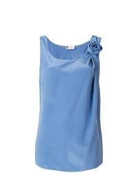 Blusa sin mangas azul de Lanvin