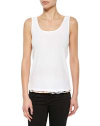 Blusa sin mangas blanca de Burberry