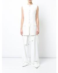 Blusa sin mangas blanca de Derek Lam