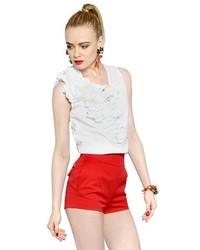 Blusa sin mangas blanca de Dsquared2