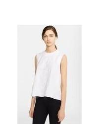 Blusa sin mangas blanca de Kenzo