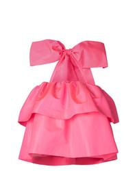 Blusa sin mangas con volante rosa de MSGM