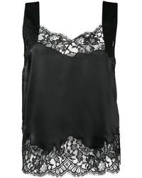 Blusa sin mangas de encaje negra de Givenchy