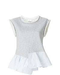Blusa sin mangas de rayas verticales gris de 3.1 Phillip Lim