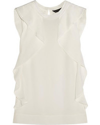 Blusa sin mangas de seda blanca de Marc by Marc Jacobs