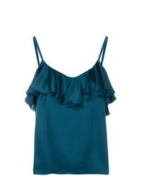 Blusa sin mangas de seda en verde azulado de Golden Goose Deluxe Brand