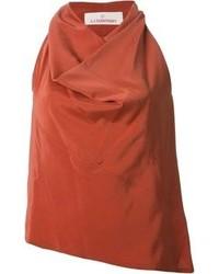 Blusa sin mangas de seda naranja de A.F.Vandevorst