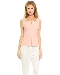 Blusa sin mangas de seda rosada de 3.1 Phillip Lim