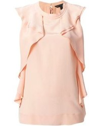 Blusa sin mangas de seda rosada de Marc by Marc Jacobs