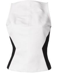 Blusa sin mangas en blanco y negro