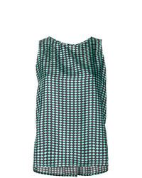 Blusa sin mangas estampada verde de Alberto Biani