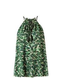 Blusa sin mangas estampada verde de Andrea Marques