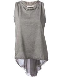 Blusa sin mangas gris