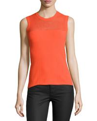 Blusa sin mangas naranja de Versace
