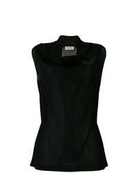 Blusa sin mangas negra de Blanca