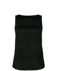 Blusa sin mangas negra de Les Copains